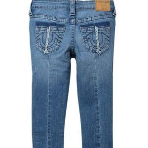 True Religion Halle Single End Jeans big girls new